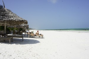 White sands and a long beach in Matemwe